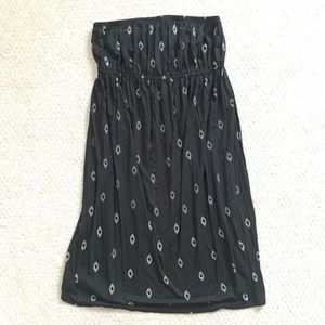 Old Navy Maternity black strapless dress